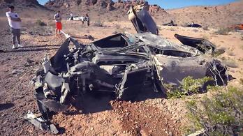 Magára hagyott, rommá tört McLarent találtak Nevadában