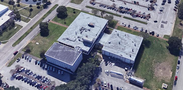 A holdkőzetlabor a Google 3D-s műholdképén