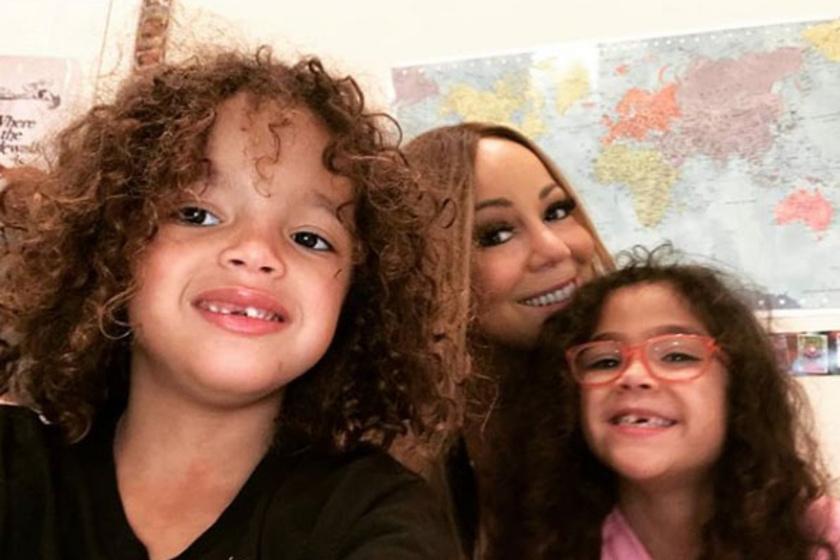Ők itt Mariah Carey ikrei, Monroe és Moroccan - a gyerekek most tavasszal lettek hétévesek.