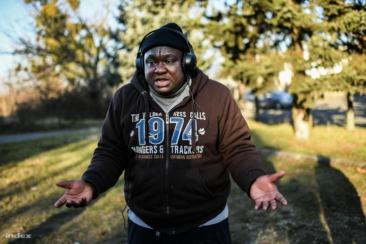 Menekült férfi Körmenden 2016. december 9-én