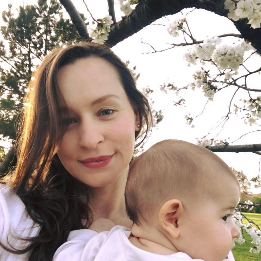 Hámori Gabriella kislánya, Lotti 2017 decemberében született.