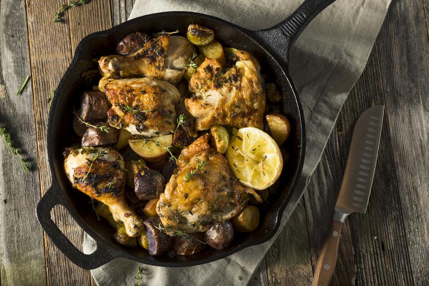 Serpenyős, fokhagymás-citromos csirke - Omlós és szaftos