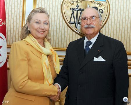 Hillary Clinton és Foued Mebazaa