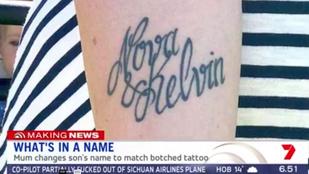 Meglepő megoldásra jutott a nő, akinek rosszul tetoválták a karjára a gyereke nevét