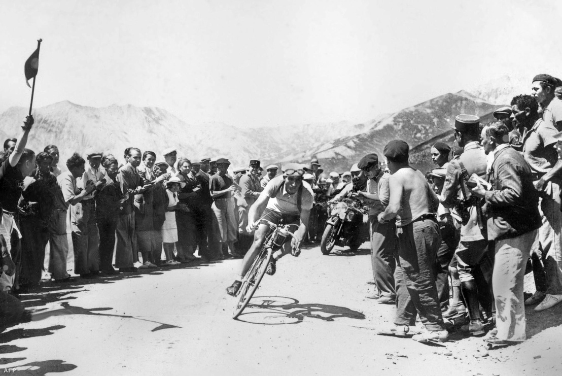 Gino Bartali 1938-ban a Tour de France-on