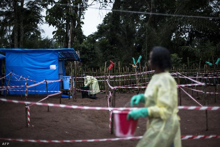 Karantén ebolás betegeknek Kongóban, 2017 júniusában