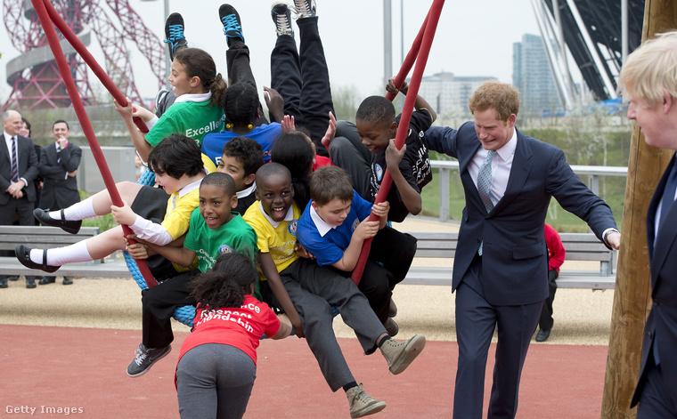 Harry herceg kilenc gyereket hintáztat!
