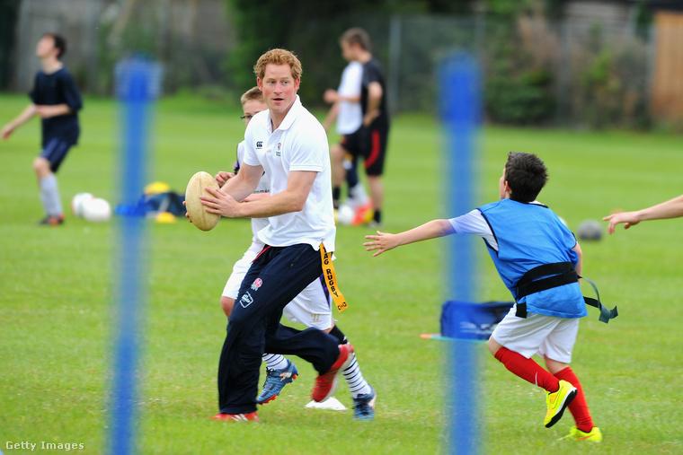 De a legjobb képek azok, ahol Harry herceg gyerekekkel játszik vagy ökörködik.