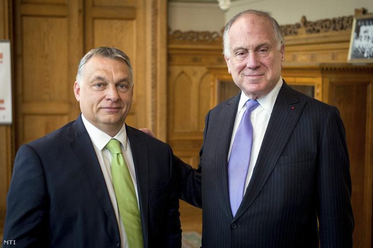 Orbán Viktor miniszterelnök fogadja Ronald Steven Laudert, a Zsidó Világkongresszus elnökét az Országházban 2017. június 21-én