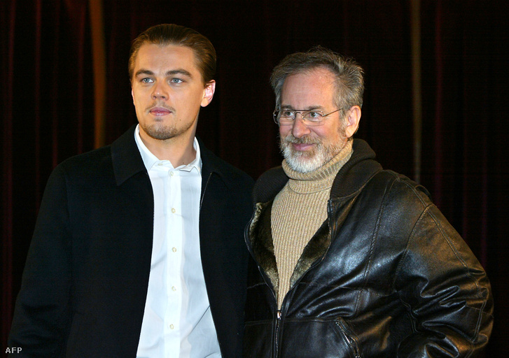 DiCaprio és Spielberg 2003-ban.