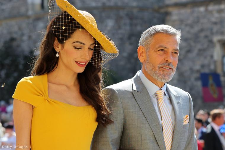 Amal és George Clooney-nál nem volt szebb pár a hercegi esküvőn