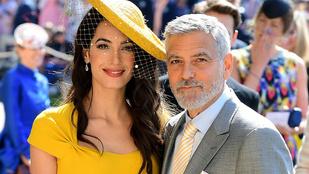 Amal Clooney elképesztően festett Harry herceg és Meghan Markle esküvőjén