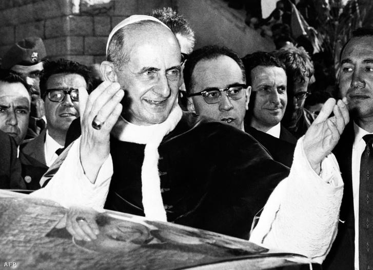 VI. Pál Pápa 1964-ben Názáretben