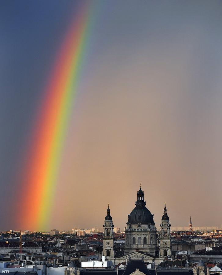 Szivárvány Budapest fölött 2018. május 16-án