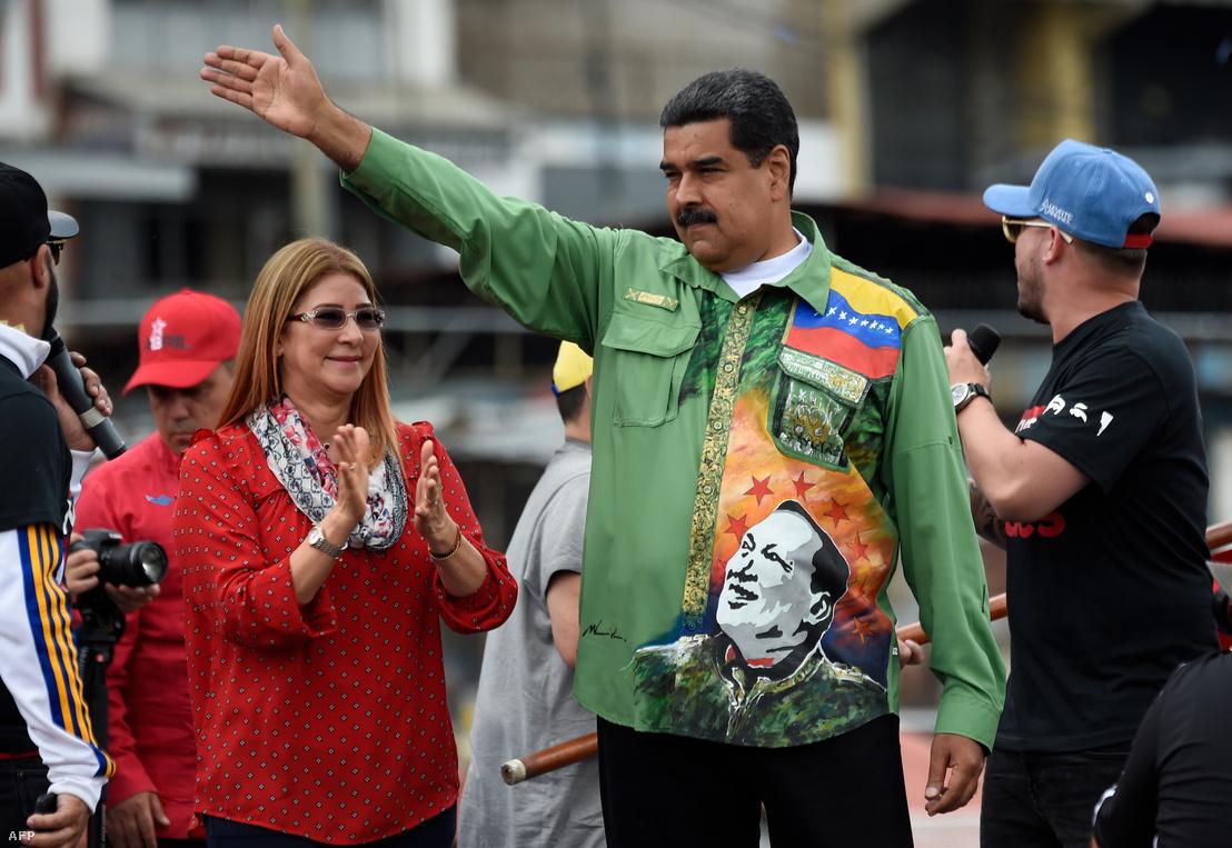 Nicolas Maduro május 17-én egy választási gyűlésen