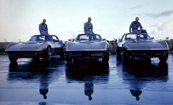 Az Apollo-12 triója és az ő Corvette-jeik