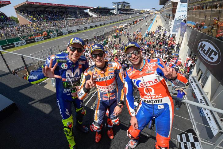Rossi, Márquez, Petrucci