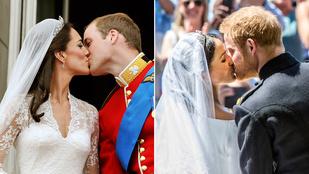 Meghan Markle és Harry herceg első hitvesi csókja alapjaiban különbözött Katalin és Vilmos első csókjától
