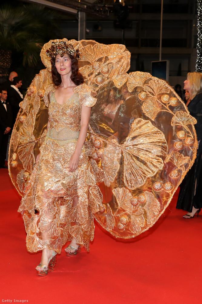 A cannes-i filmfesztivál egyik legfeltűnőbb ruháját Larisa Katz mutatta be a Dogman premierjén.