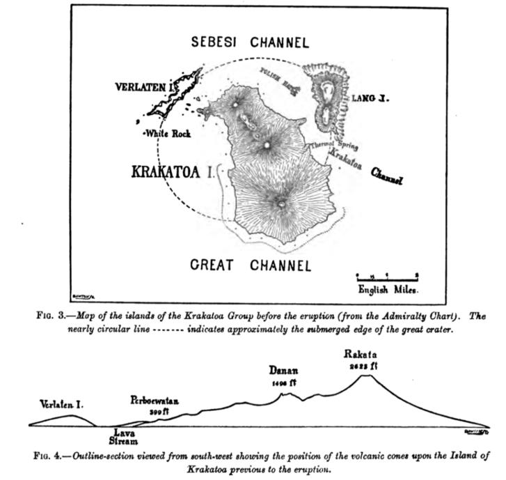 Krakatoa, a pusztító kitörés előtt
