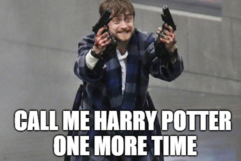 Harry Potter és az elgurult gyógyszer: az alsóban őrjöngő Daniel Radcliffe-en pörög a net