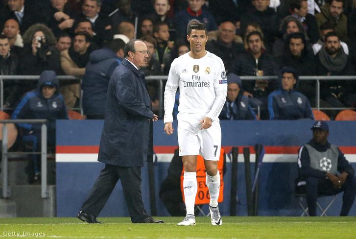 Rafa Benítez még Cristiano Ronaldo edzőjeként