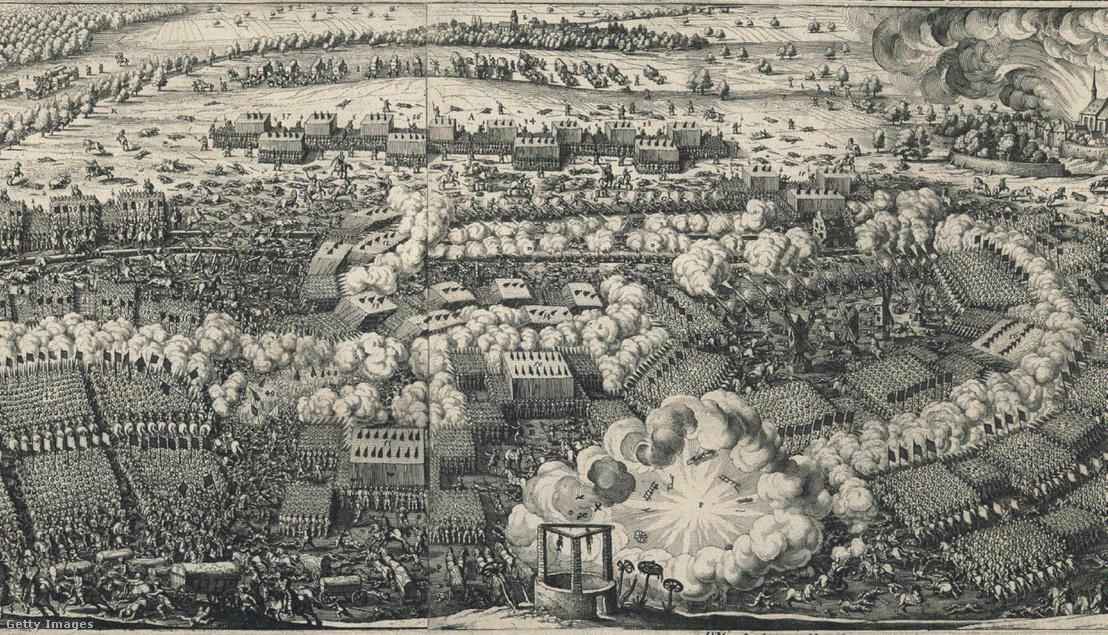 A lützeni csata egy korabeli metszeten