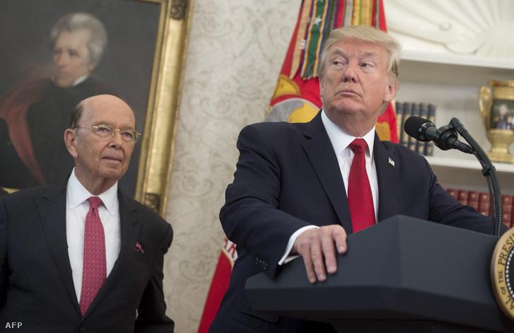 Wilbur Ross és Donald Trump