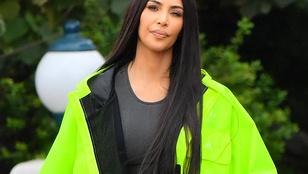 Ritka látvány: mikor Kim Kardashian is csak egy átlagos anya