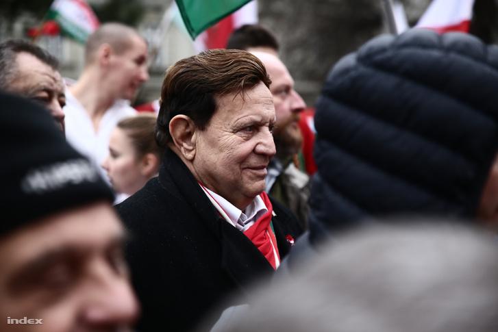 Dózsa László a 2018 március 15-én tartott békemeneten