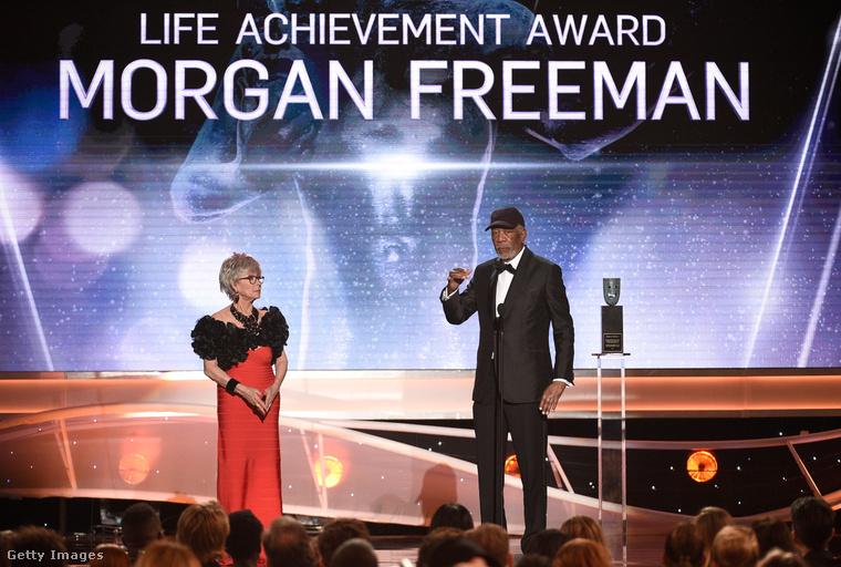 Morgan Freeman átveszi Életműdíját.