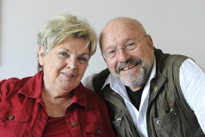 Levente Péter és felesége, Döbrentey Ildikó.