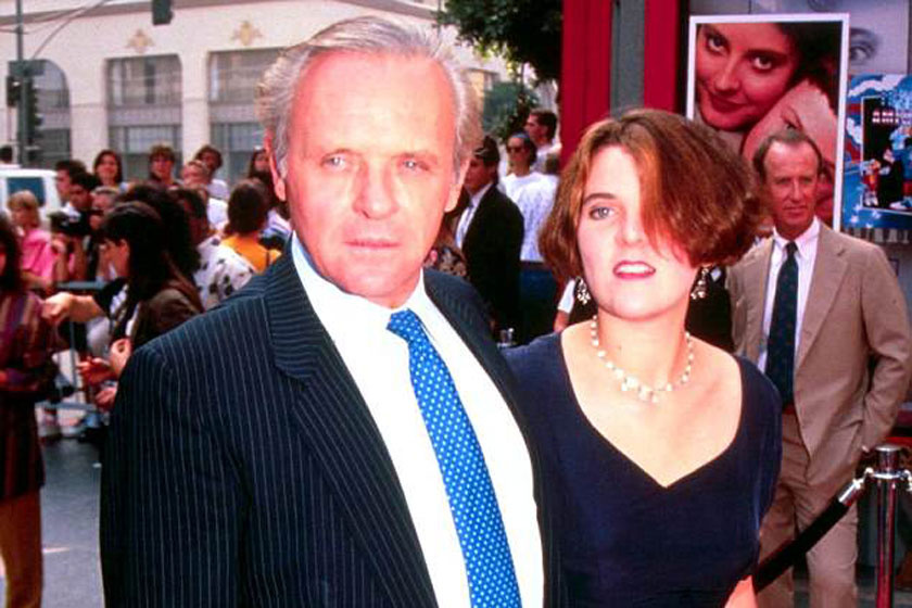 Anthony Hopkins és lánya, Abigail 1991-ben.