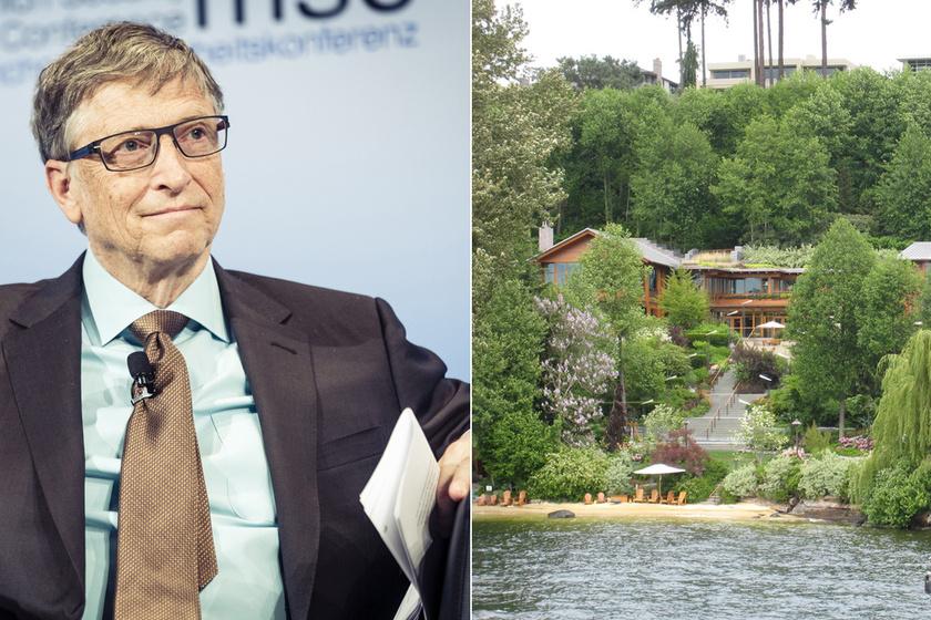 6 furcsa tény Bill Gates házáról: 24 órában figyeli kedvenc fáját