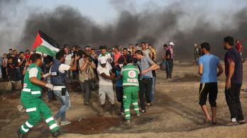 86-an megsérültek a gázai tüntetők közül