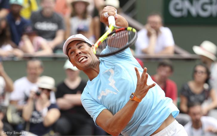 Rafael Nadal a 2018-as Roland Garros nyitónapján.