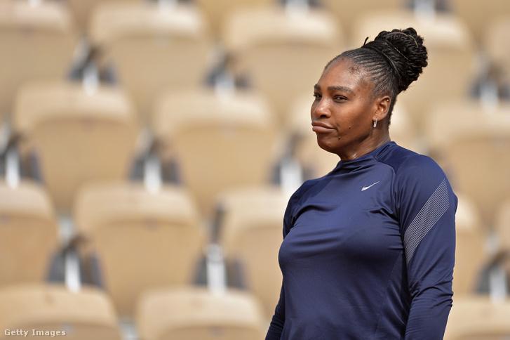 Serena Williams a május 24-i edzésen.