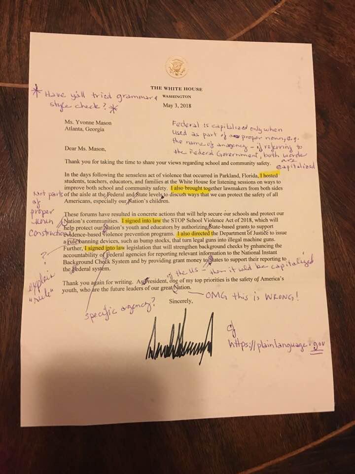 trump levél