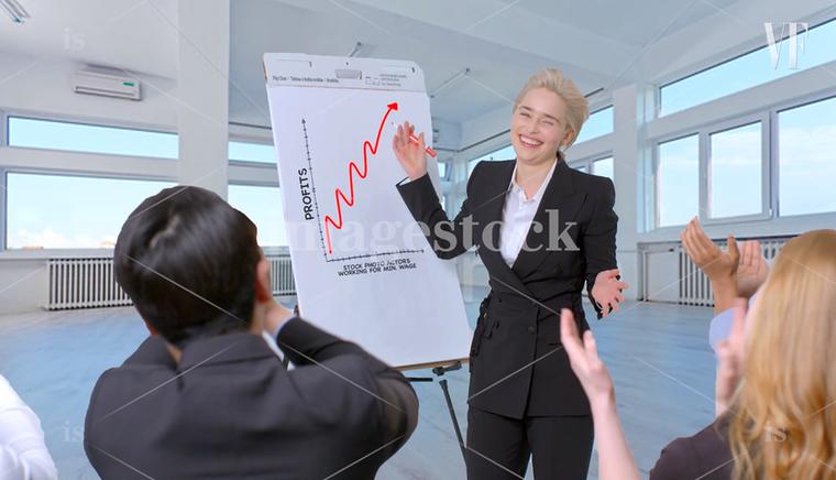 A sárkányok és az exponenciálisan növekedő negyedéves profitot jelző flip chartok anyja.