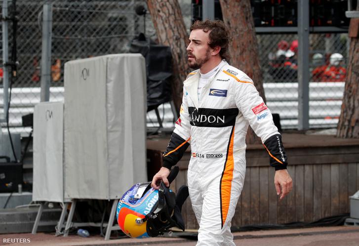 Fernando Alonso Monacóban, a kiesése után