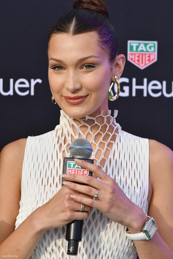 Bella Hadid így népszerűsítette a karóra márkát.