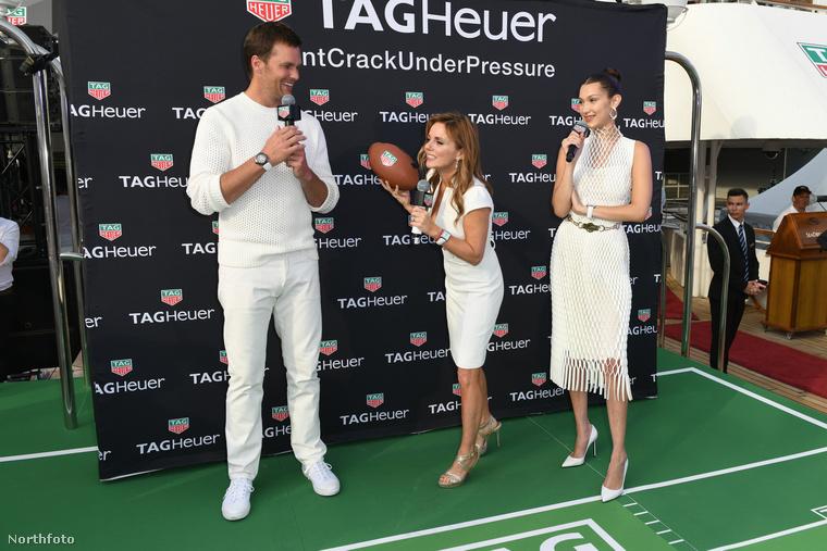 Szóval ott volt a szintén Tag Heuer karórát viselő Tom Brady, a New England Patriots amerikaifoci-csapat irányítója.