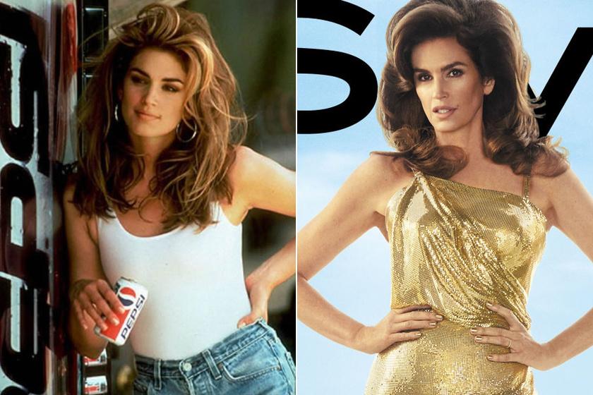 Cindy Crawford volt a Pepsi reklámarca, legutóbbi felkérése az InStyle magazintól jött. 52 évesen is címlapszereplő.