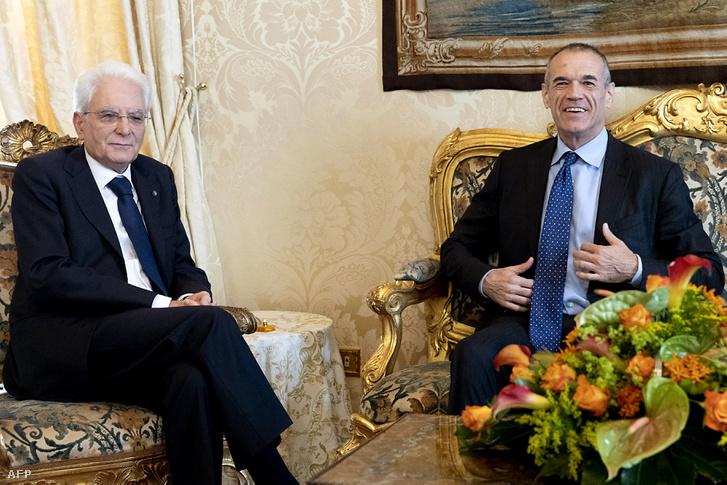 Carlo Cottarelli és Sergio Mattarella találkozója 2018. május 29-én