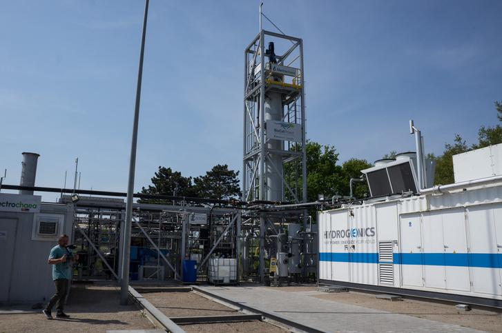 A Biocat dániai metanizáló üzeme. A hidrogén előállítás egyik jövőjét jelenti ez a létesítmény