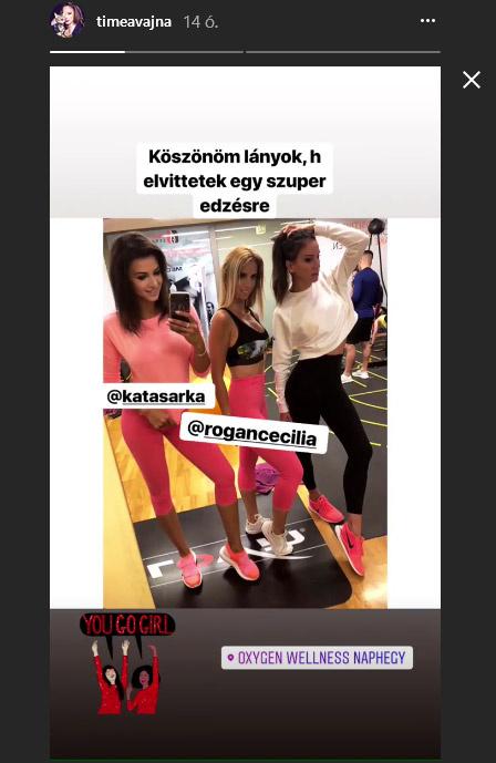 Sarka Kata, Rogán Cecília és Vajna Tímea - közös póz az edzőteremben.
