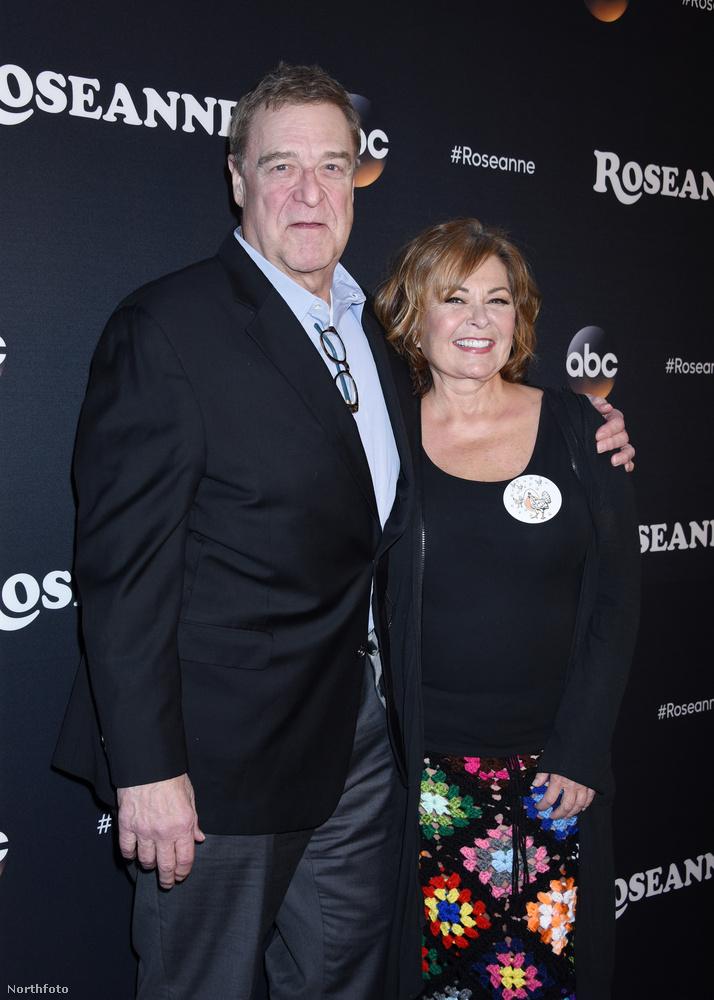 Ezen a képen John Goodman és Roseanne Barr látható, az utóbbiról elnevezett vígjátéksorozat főszereplői