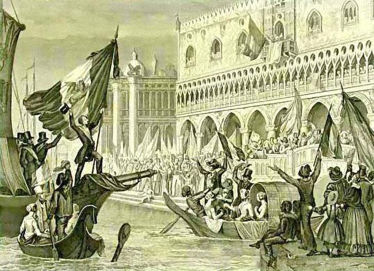 Velence függetlenségének kikiáltása (1850-es litográfia)