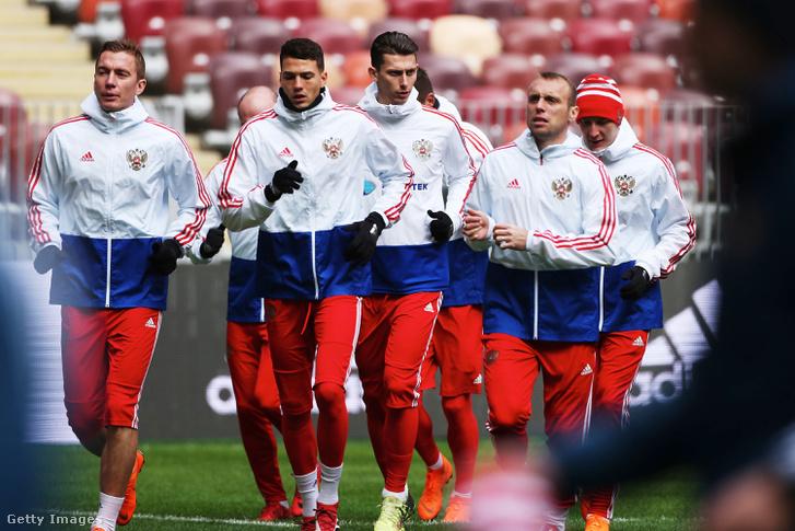 Az orosz válogatott edzése