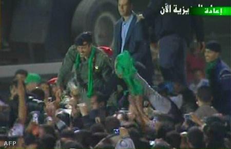 Hamisz Kadhafi az állami televízión